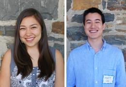 Reiko Sakai and Matthew Lin, Schweitzer Fellows, 2013 - 2014