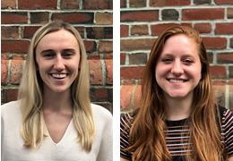 Sara Brennan and Cara Rathmell, 2019-2020 Schweitzer Fellows
