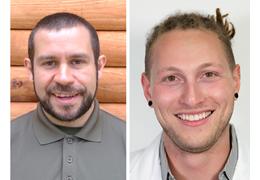 Sean Muniz and Cyrus Thomas-Walker, NH-VT Schweitzer Fellows 2020-2021