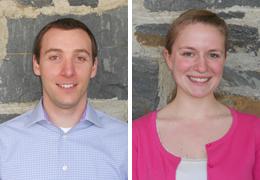 William Thompson and Sarah Johnson, Schweitzer Fellows, 2013 - 2014
