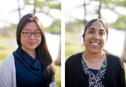 Victoria Charoonratana and Simrun Bal, 2016-2017 Schweitzer Fellows