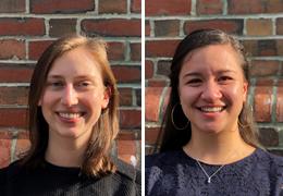 Vivien Bazarko and Katherine Gohres, 2019-2020 Schweitzer Fellows