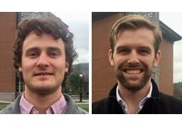 Zachary Dayno and Scott Rowland, 2017-2018 Schweitzer Fellows