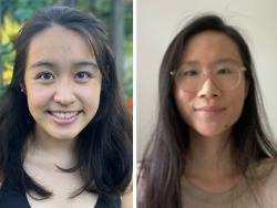 Lily Deng and Linda Cui, NH-VT Schweitzer Fellows 2021-2022