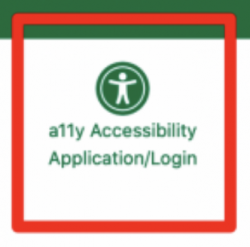 Universal Access symbol. A human figure in a circle with arms and legs outstretched