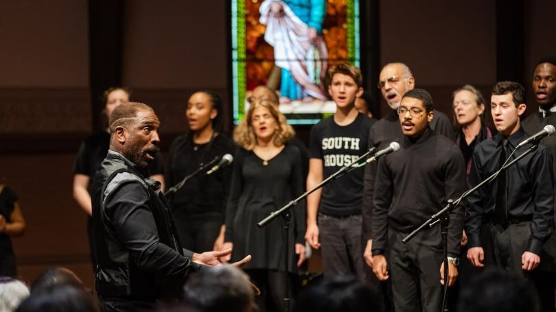 Gospel Choir singing at the MLK Multifaith Celebration