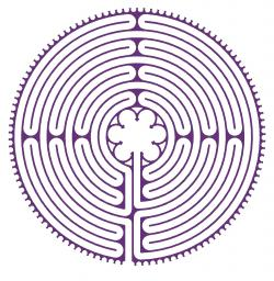 Drawing of a Chartres style labyrinth.