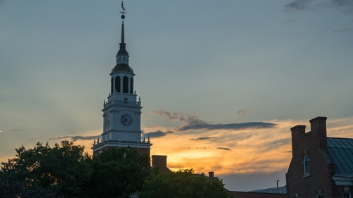 Baker Tower at sunset