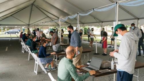 Covid testing tent