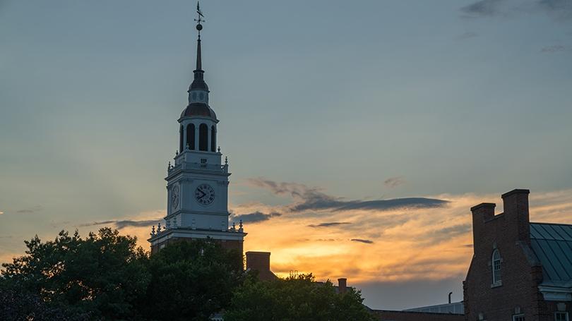 Baker Tower at sunset